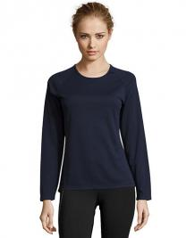 Women`s Long-Sleeve Sports T-Shirt Sporty